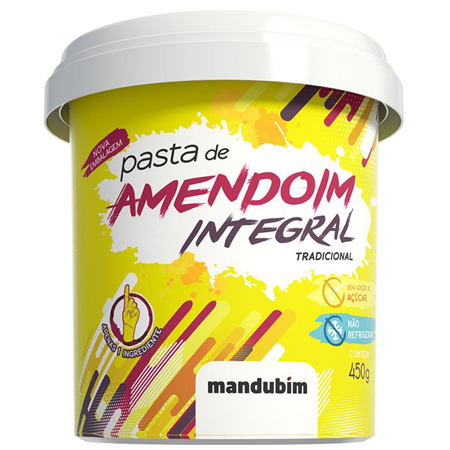 Pasta de Amendoim Integral Lisa 450g