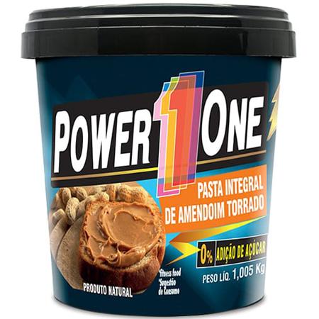 Pasta de Amendoim Lisa 1Kg PowerOne