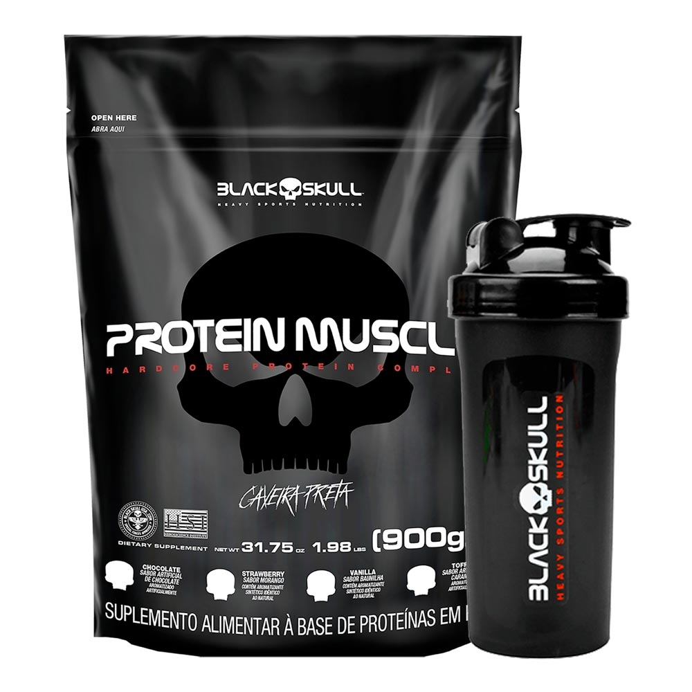 Protein Muscle Refil 900g + Coqueteleira