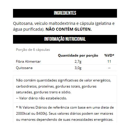 Quitosan 500mg (120 Cápsulas)