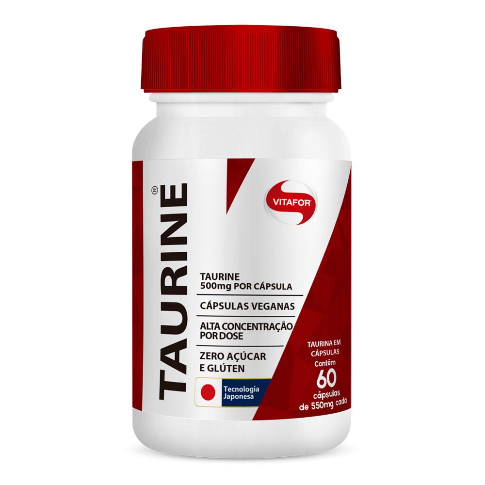 Taurina 1000mg (60 Cápsulas) - Vitafor