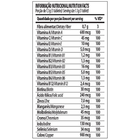 Vitapure Multivitamínico 60 Cápsulas
