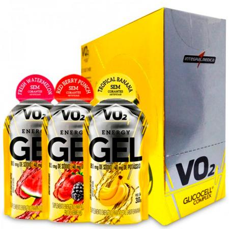 VO2 Energy Gel Caixa C/ 10 unidades de 30g