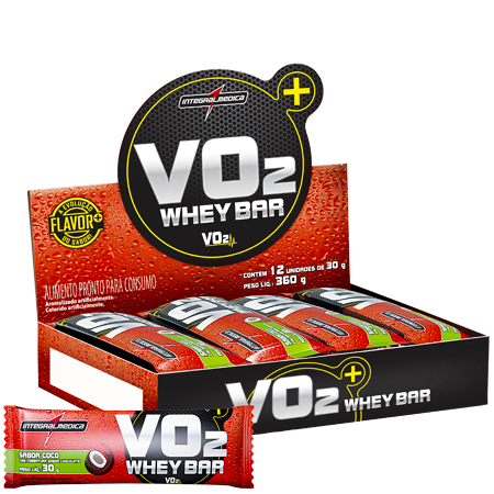 VO2 Whey Bar Barra de Proteína Integramédica Caixa c/ 12 un de 30g