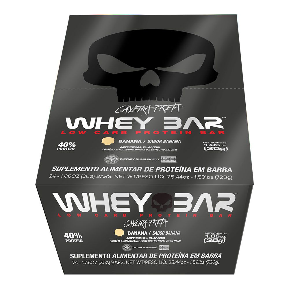 Whey Bar Black Skull - 24 unidades