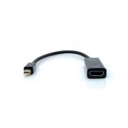 Cabo Adaptador Mini DisplayPort Macho x HDMI Fêmea 15 cm Plus Cable - ADP-104BK