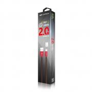 Cabo USB 2.0 AM x Micro USB 2.0 2 Metros Faster charging (Carrega mais rápido) C3 Tech - CB-200RD
