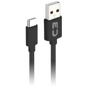 Cabo USB 2.0 USB x USB C (Type C) 2 Metros C3 Tech - CB-C21