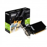 Placa de Vídeo MSI NVIDIA GeForce GT 710 1GB, DDR3, 64Bits - GT 710 1GD3H LP