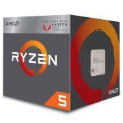 Processador AMD Ryzen 5 2400G AM4 3.6GHz (3.9GHz Max Turbo), Cache 6MB, Cooler Wraith Stealth - YD2400C5FBBOX