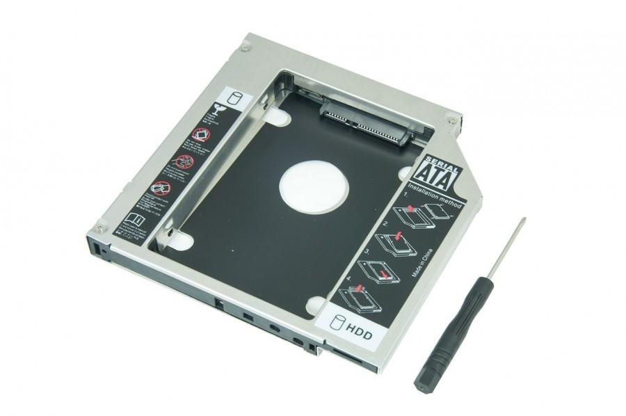 Adaptador BringIT Caddy DVD para HD 2.5' Ou SSD 2.5' Sata III 9.5mm