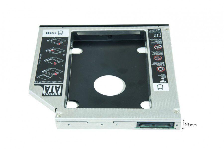 Adaptador Dex Caddy DVD para HD 2.5' Ou SSD 2.5' Sata III 9.5mm ou 12.7mm
