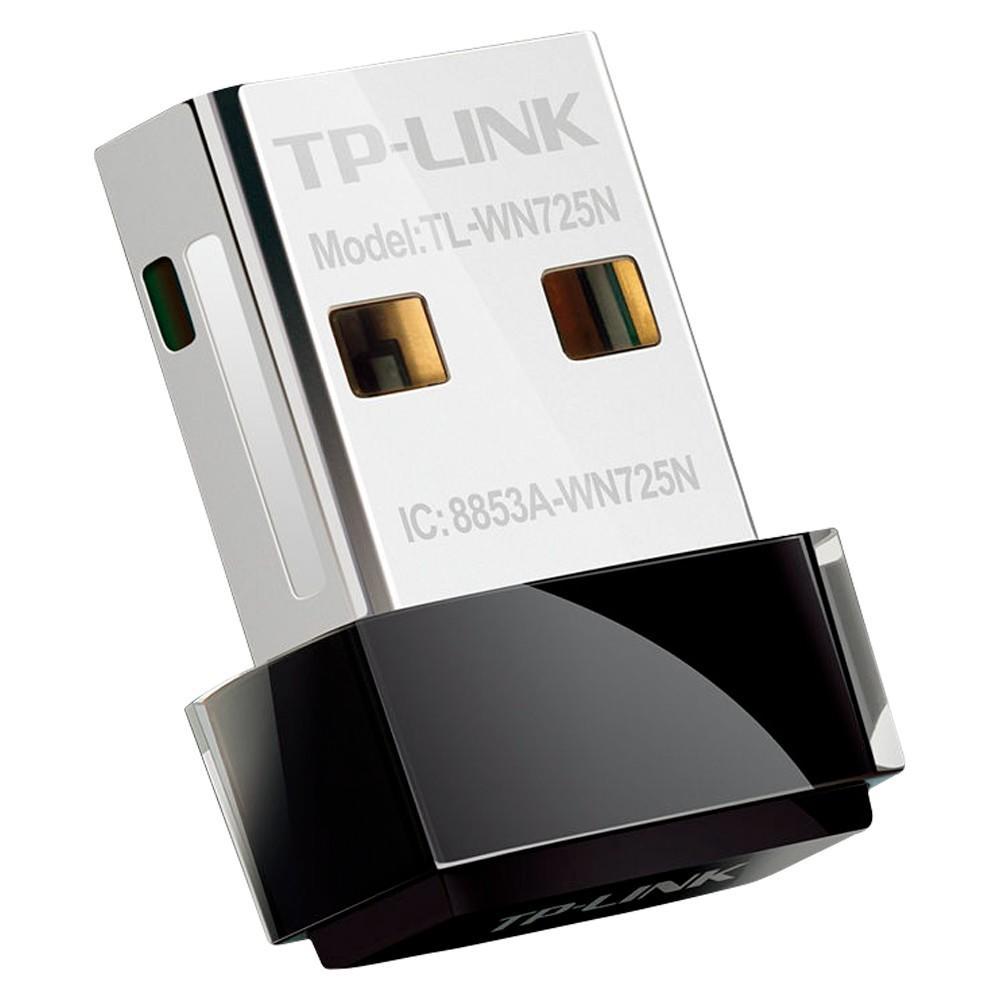 Adaptador Wireless (Wi-Fi) USB Nano TP-Link 150 Mbps - TL-WN725N