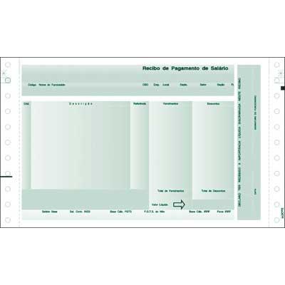 Contra Cheque (Holerit / Recibo de Pagamento) Sem envelope com carbono (LAB02) Verde Caixa com 2000 jogos
