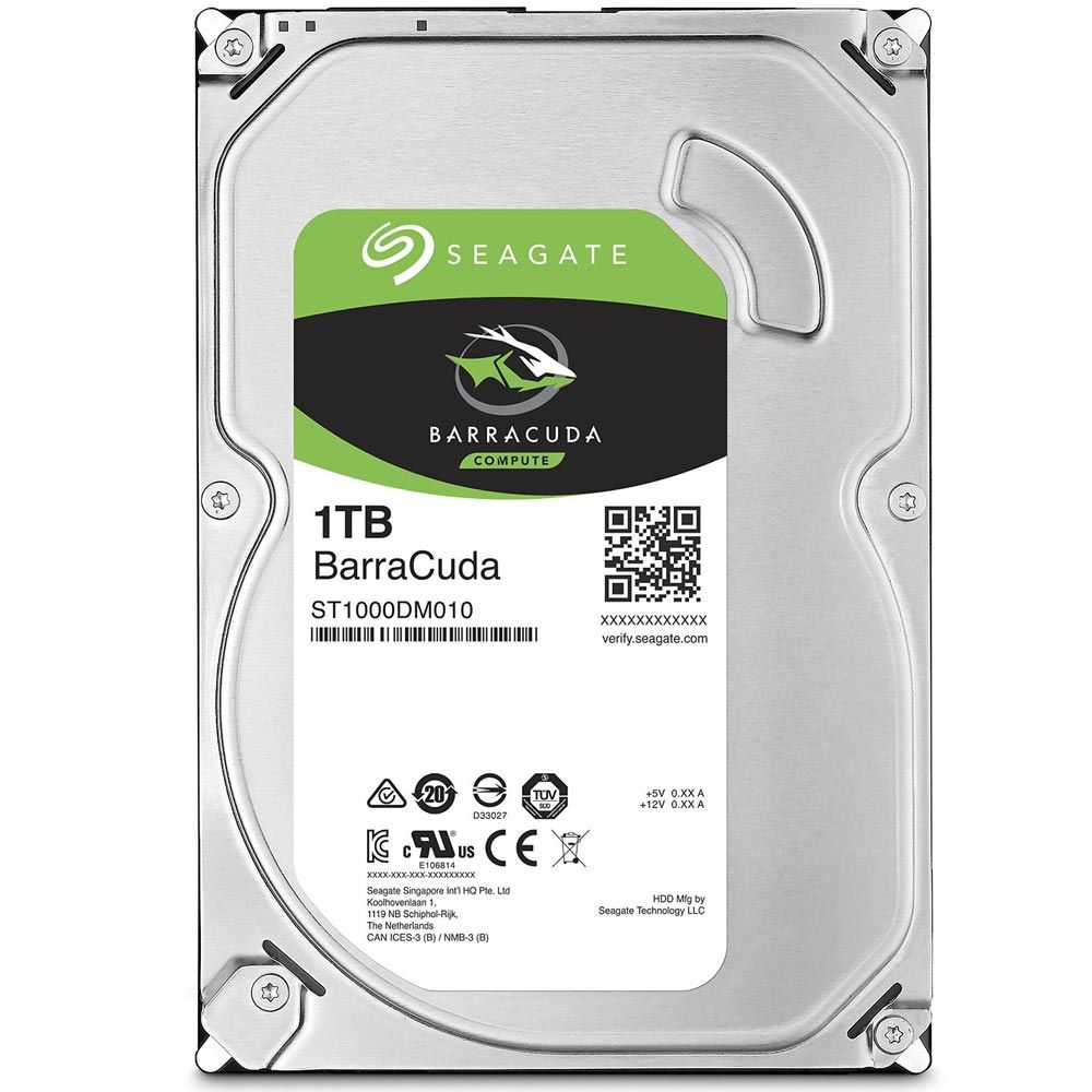 HD Seagate Barracuda 1TB 7.200RPM 64MB Cache Sata III 6Gb/s 3.5' - ST1000DM010