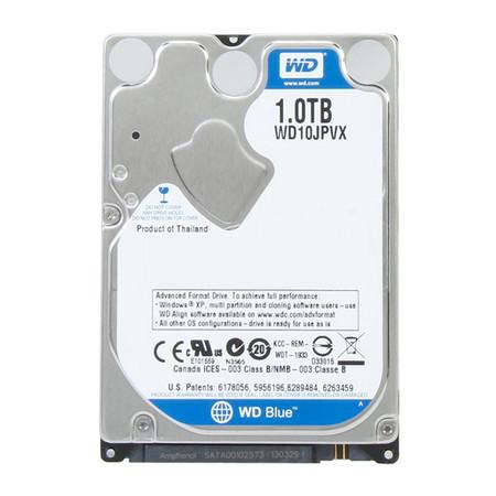 HD WD (Western Digital) Blue Notebook 1TB 5.400RPM 8MB Cache Sata III 2.5' 6.0Gb/s - WD10JPVX