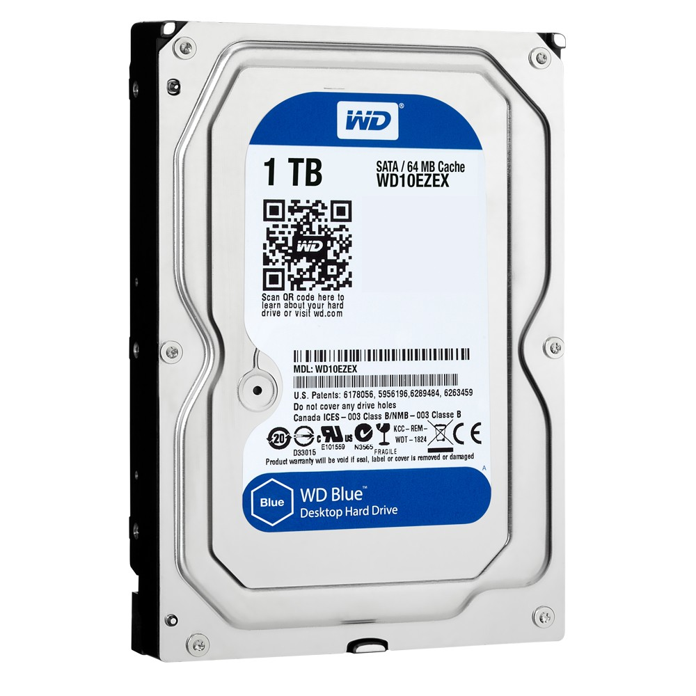 HD WD (Western Digital) Blue 1TB 7.200RPM 64MB Cache Sata III 3.5' 6.0Gb/s - WD10EZEX