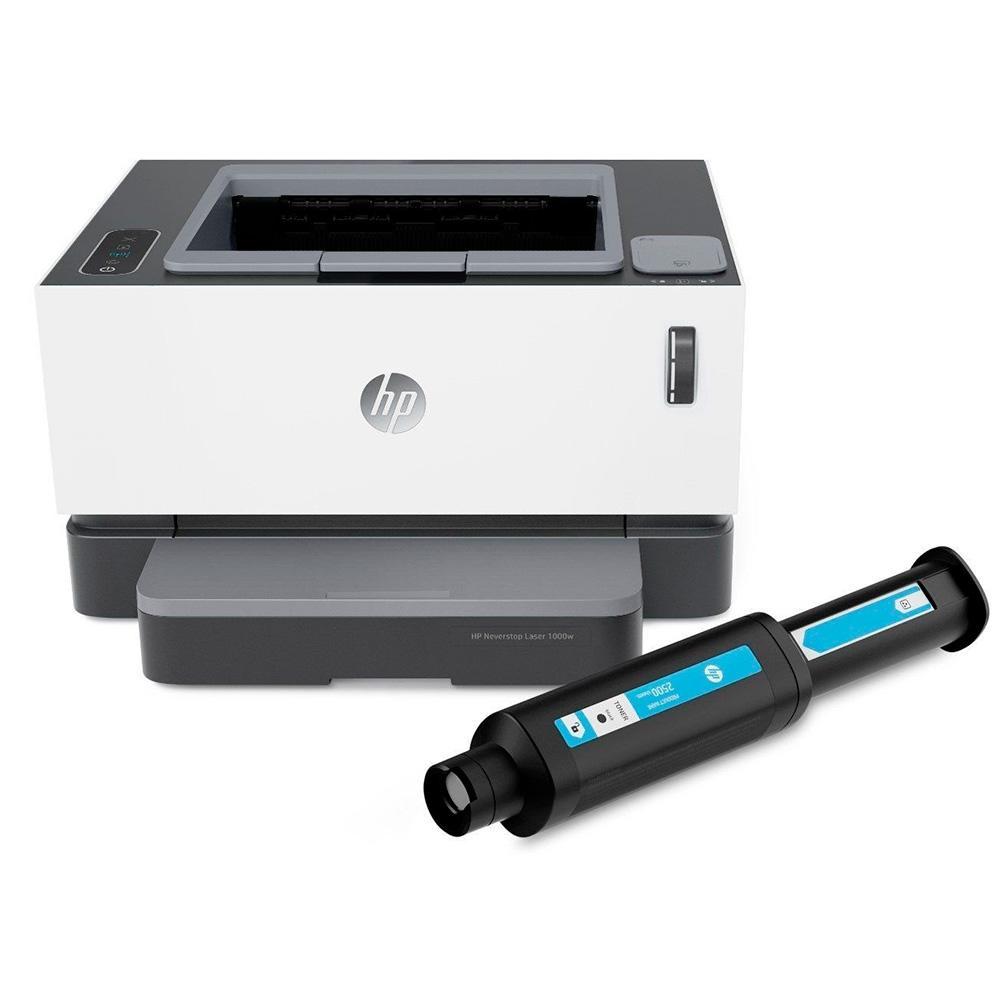 Impressora HP Laser Sem Fio Neverstop 1000 WL Wi-Fi 110V Monocromática Tanque de Toner - 4RY23A-696