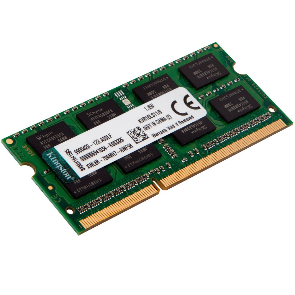 Memória Kingston 8GB 1600Mhz 1.35v DDR3L p/ Notebook CL11 - KVR16LS11/8
