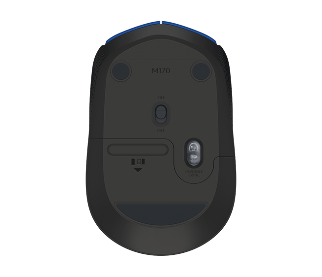 Mouse Logitech Óptico Sem Fio (Wireless 2,4 GHz) m170 Azul