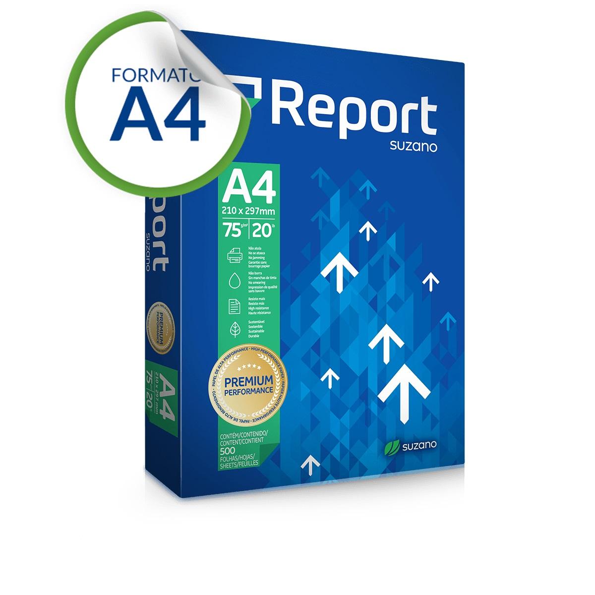 Papel A4 Sulfite Premium 500 folhas 75g 210x297mm - Report