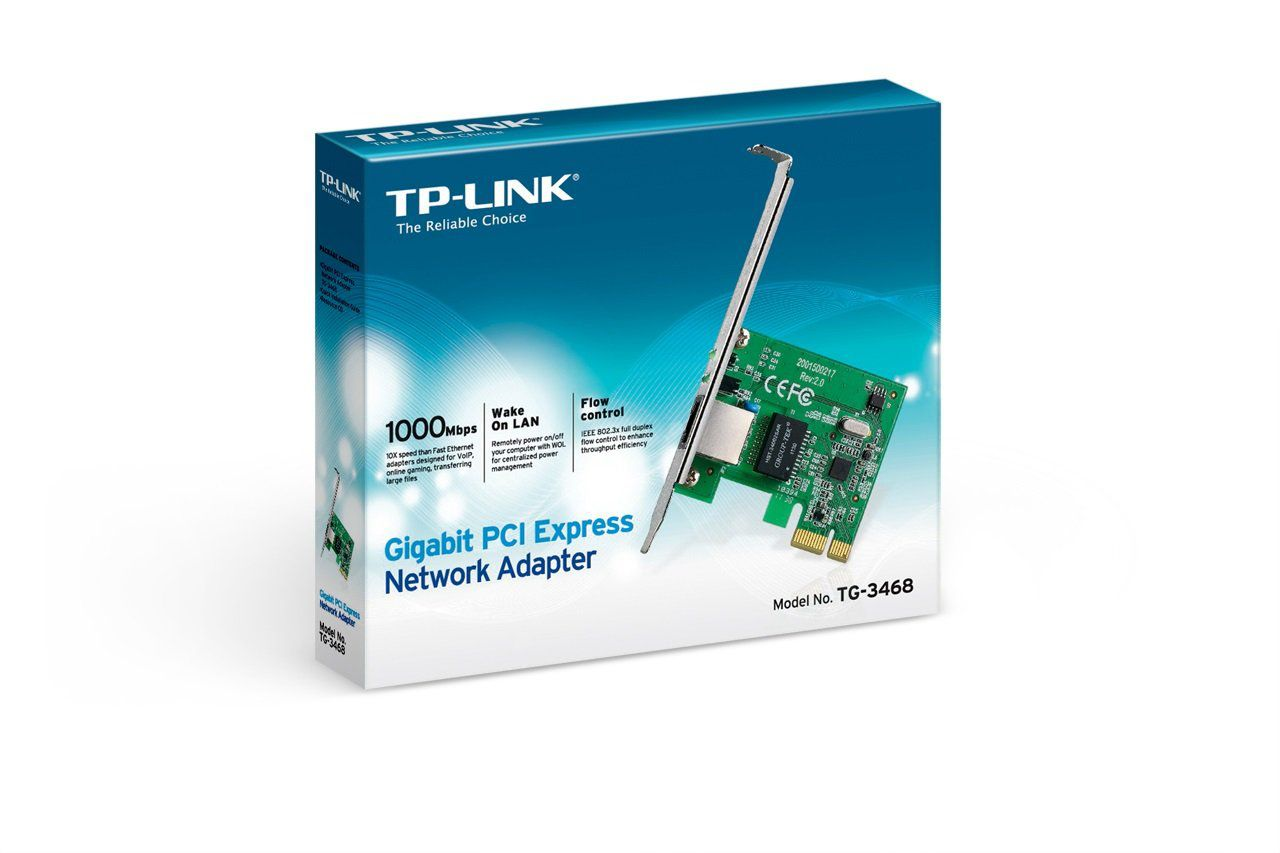 Placa de Rede TP-Link Gigabit 10/100/1000 Mbps PCI Express - TG-3468