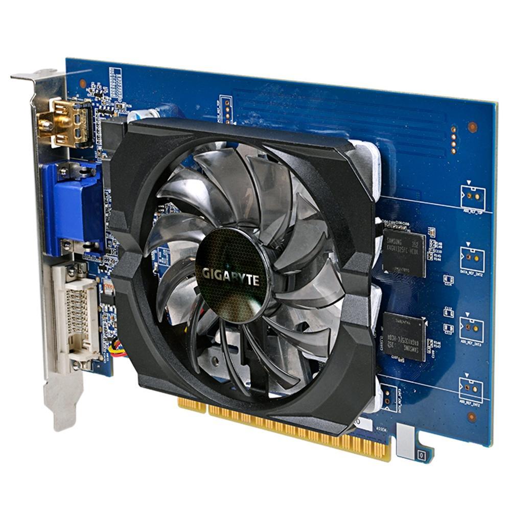 Placa de Vídeo Gigabyte NVIDIA GeForce GT 730 2GB, GDDR5, 64Bits - GV-N730D5-2GI Rev2.0