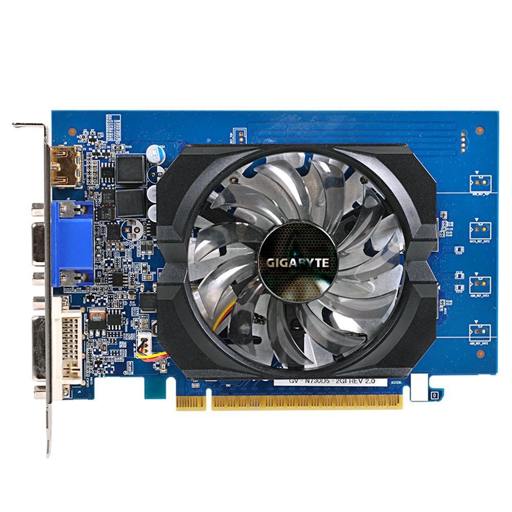 Placa de Vídeo Gigabyte Nvidia Geforce GT 730 2GB GDDR5 64Bits - GV-N730D5-2GI Rev2.0