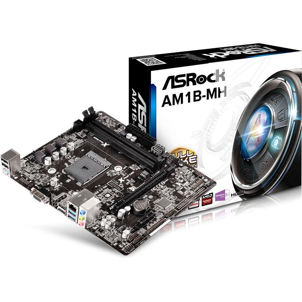 Placa Mãe ASRock P/ AMD AM1 mATX DDR3 - AM1B-MH