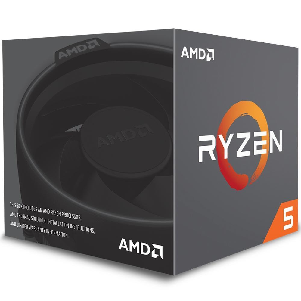 Processador AMD Ryzen 5 2600 AM4 3.4GHz (3.9 GHz Max Turbo), Cache 19MB - YD2600BBAFBOX