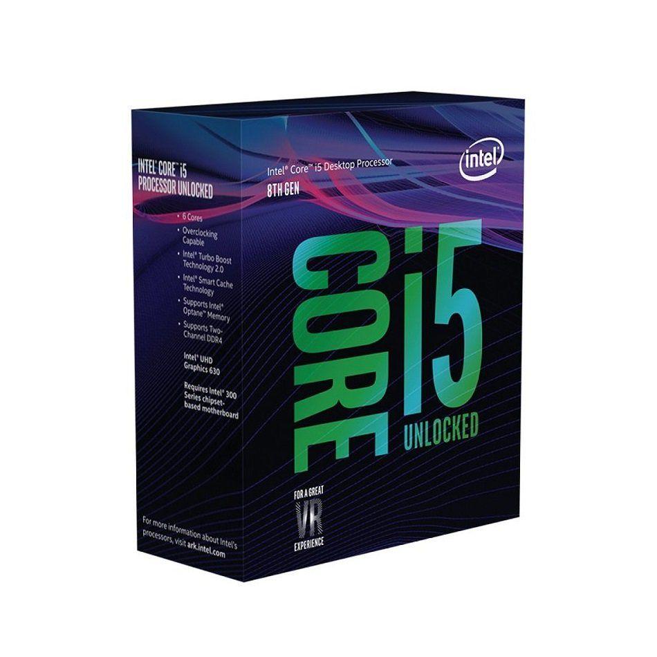 Processador Intel Core i5-8400 Coffee Lake 8ª Geração LGA 1151 2.8GHz (4GHz Max Turbo), Cache 9MB, Intel UHD Graphics 630 - BX80684I58400