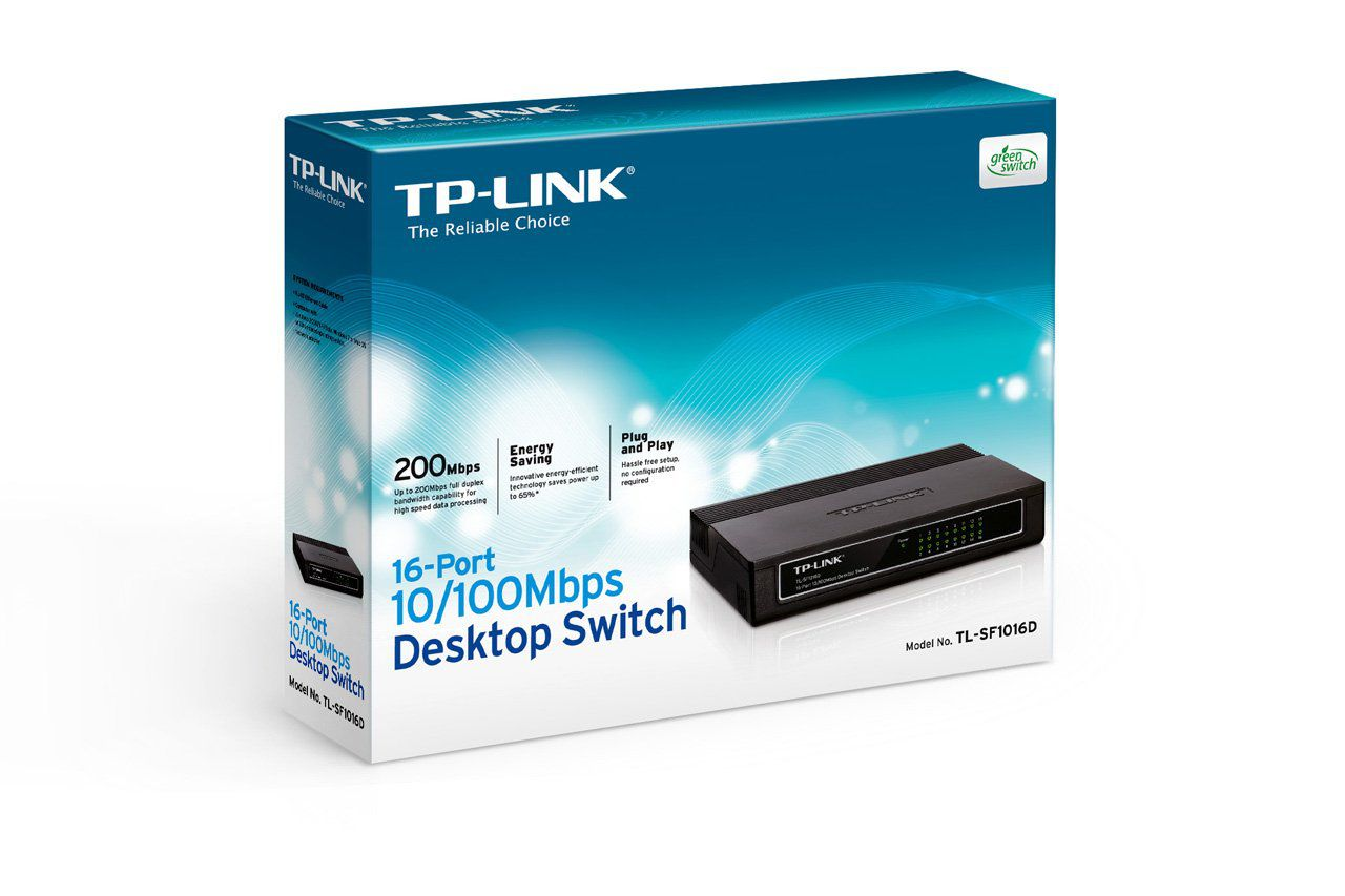 Switch TP-Link 16 Portas 10/100 Mbps - TL-SF1016D