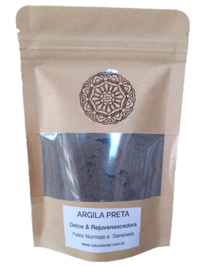Argila Preta (Pó) - 100% Natural - Chapada Diamantina