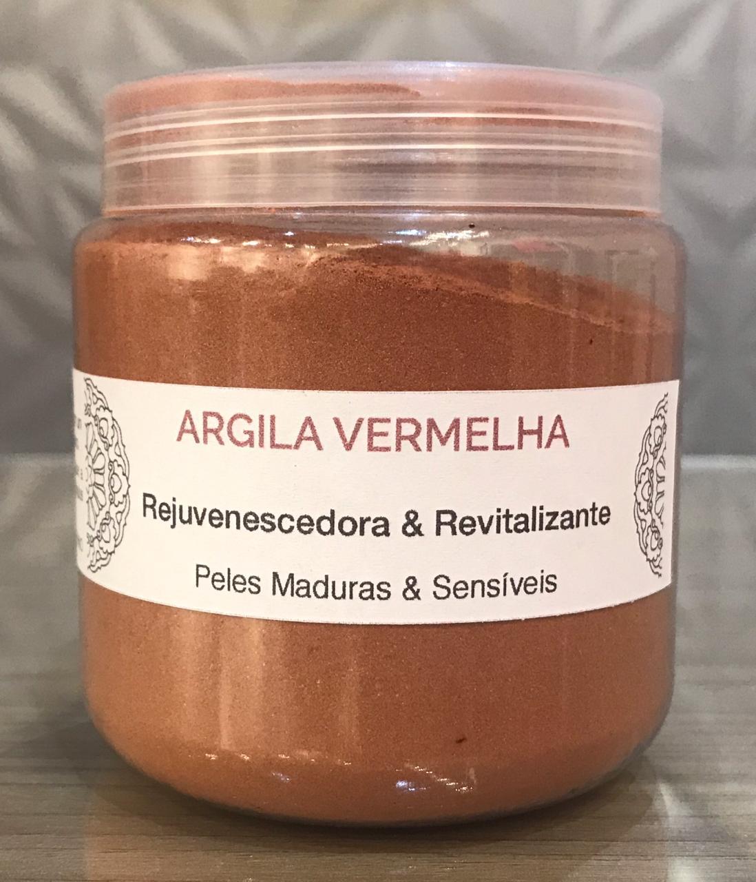 Argila Vermelha (Pó) - 100% Natural & Vegetal - Chapada Diamantina