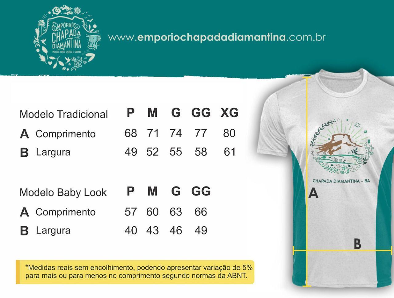 Camiseta UV 50+ Manga Curta - Morro do Pai Inácio  - EMPÓRIO CHAPADA DIAMANTINA