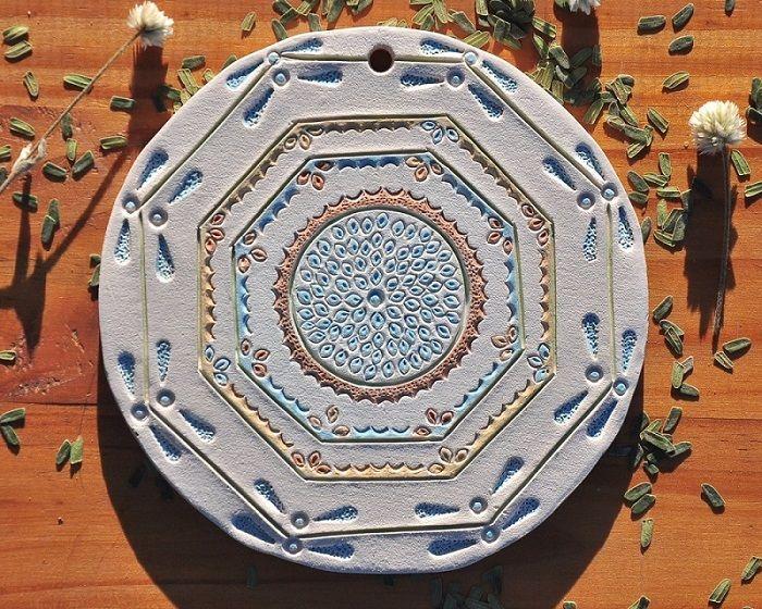 Mandala, arte em Cerâmica - M - Chapada Diamantina  - EMPÓRIO CHAPADA DIAMANTINA
