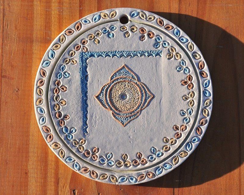 Mandala, arte em Cerâmica - P - Chapada Diamantina