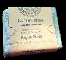 Sabonete de Argila Preta - 100% Natural e Vegetal - Chapada Diamantina