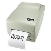 Impressora de etiquetas ARGOX modelo OS 214TT, com fonte e cabo conversor USB