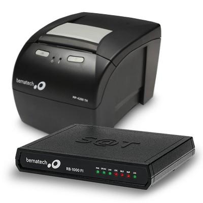 KIT SAT Bematech RB-2000 + Impressora MP-4200TH USB e ETHERNET / GUILHOTINA  - Loja Ribeirão WCOM Soluções