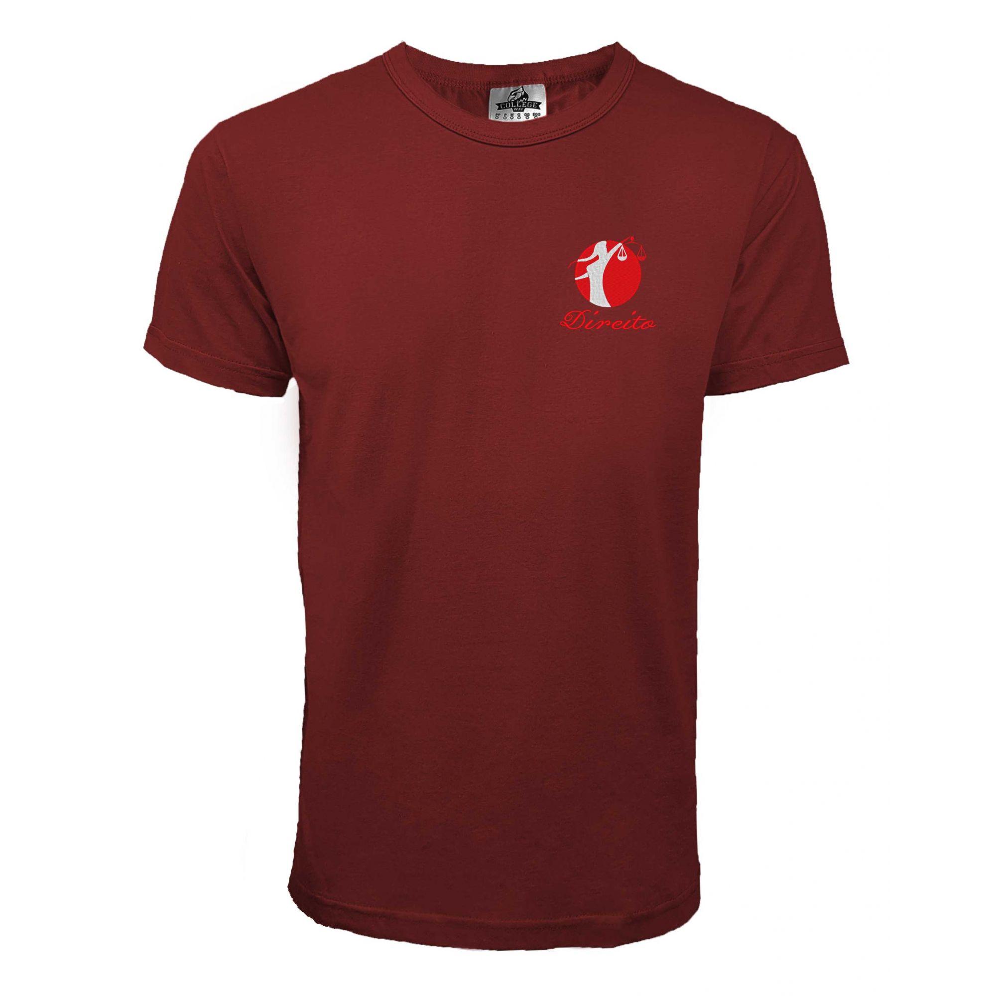 Camiseta Direito Bordada modelo 3