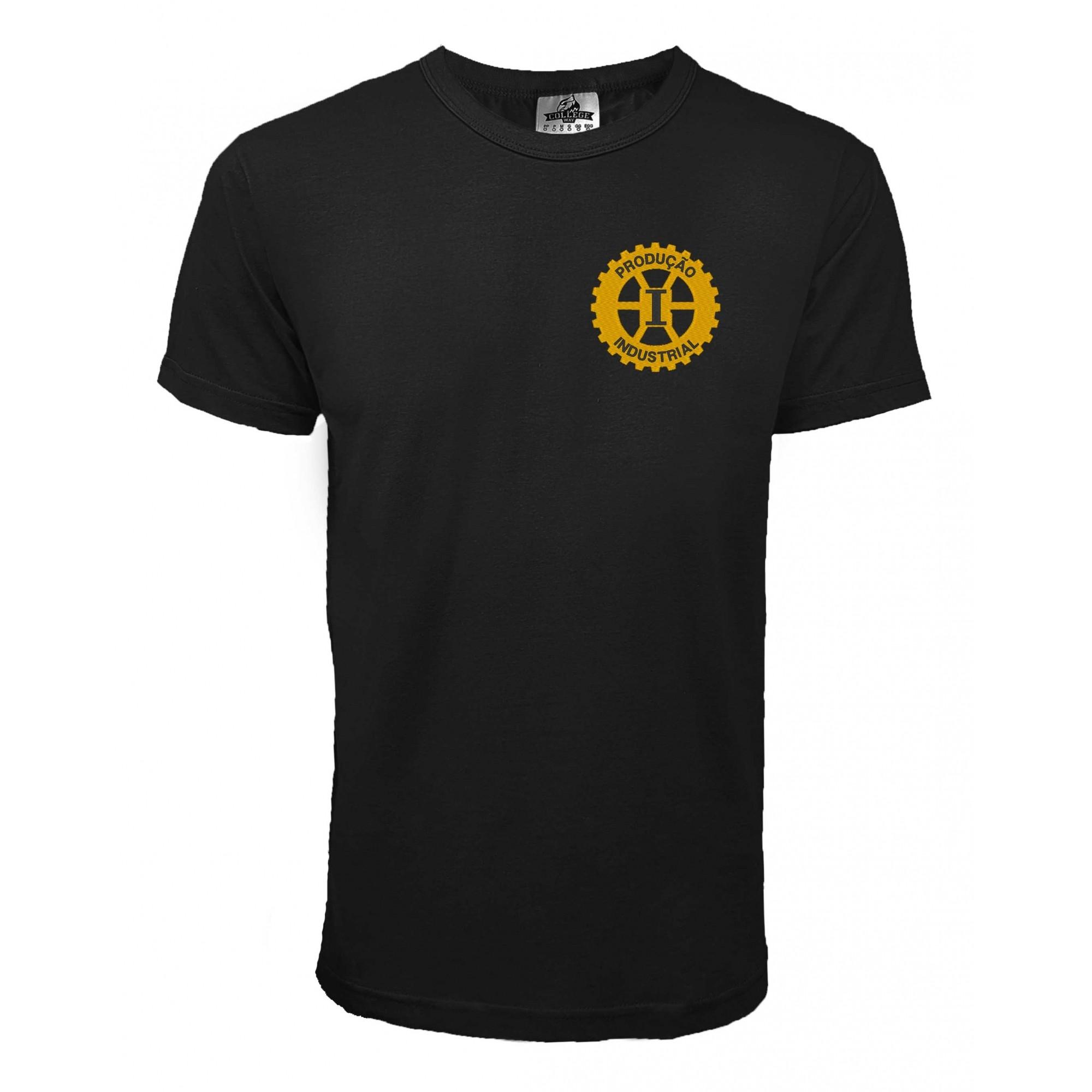 Camiseta Produção Industrial Bordada