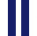 Branco com punho Azul Marinho