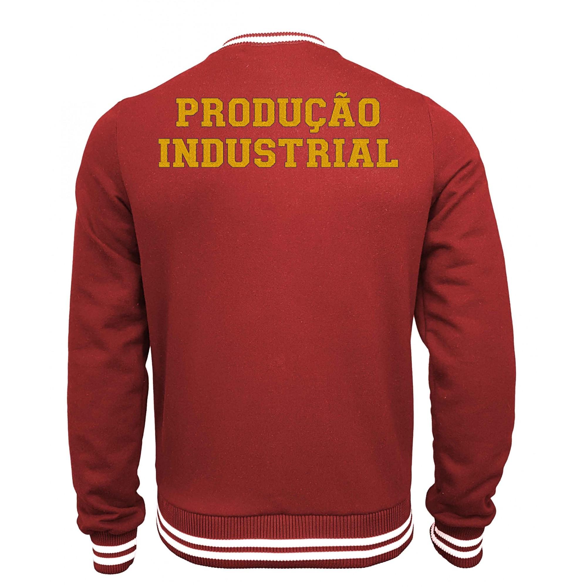 Jaqueta Moletom College Produção Industrial