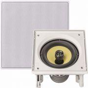 JBL CI6S - Caixa acústica de embutir quadrada - Branca