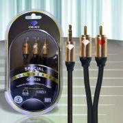 Diamond Cable DMD GS-3035 1,5 Metros - Cabo de áudio P2/RCA stereo - Unidade