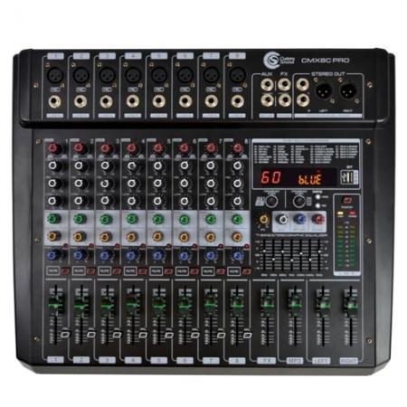Mesa 8 Canais Amplificada Usb Bluetooth Custom Sound Cmx Pro