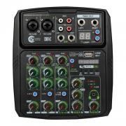 Mesa De Som Custom Sound Cmx 4c Usb Bt Preto Interface Cmx4c Bk