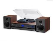 Vitrola Toca Discos Raveo Aria Rádio CD USB Bluetooth
