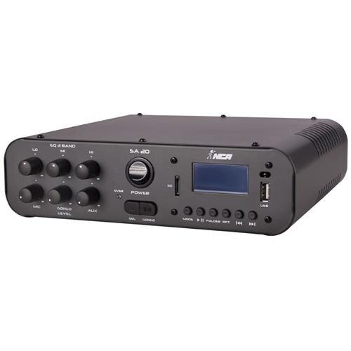 Amplificador De Som Receiver Sa20 100w Usb Card Bluetooth Fm